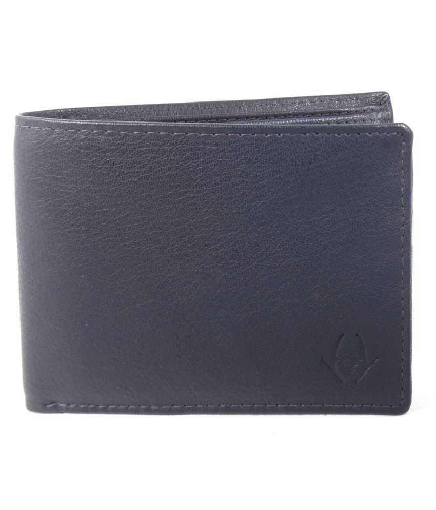 HideChief Leather Blue Formal Regular Wallet