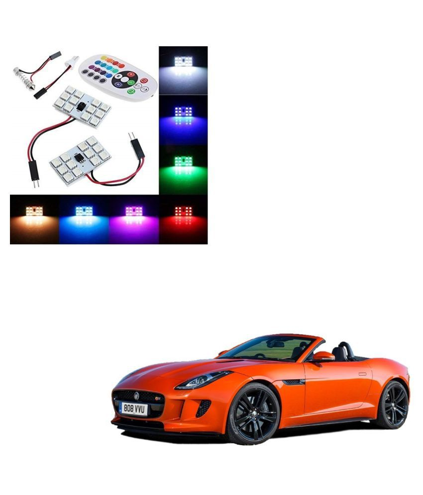 Auto Addict Car 12 LED RGB Roof Light with IR Remote Car Fancy Lights For Jaguar F-TYPE