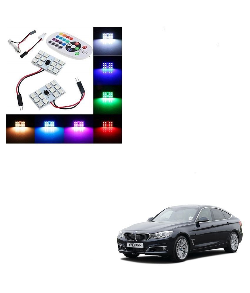 Auto Addict Car 12 LED RGB Roof Light with IR Remote Car Fancy Lights For BMW 3 GT
