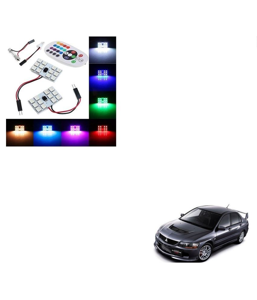 Auto Addict Car 12 LED RGB Roof Light with IR Remote Car Fancy Lights For Mitsubishi Lancer