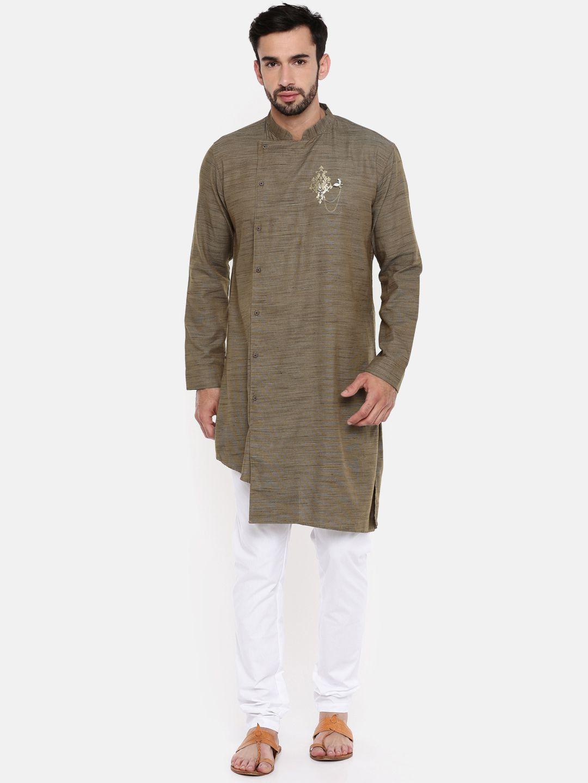 Freehand Brown Cotton Kurta Pyjama Set Pack of 2