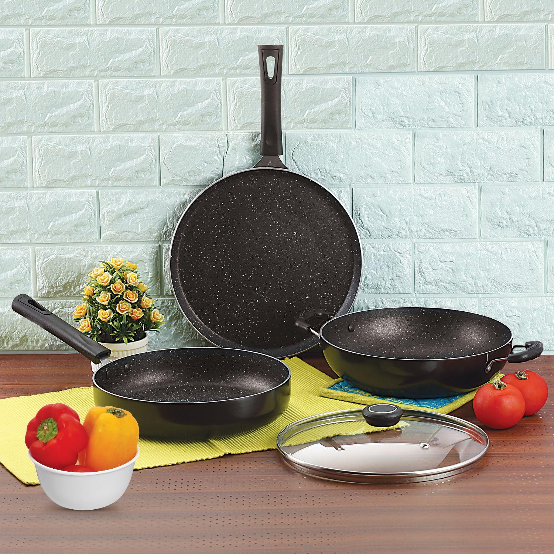 Anjali 3pc Fab Nonstick Granita Induction Gift Set