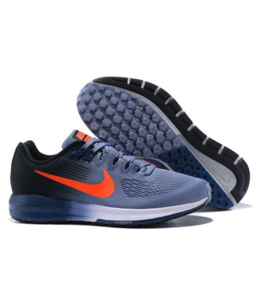 192c5c3e8f467 Nike AIR ZOOM STRUCTURE 21 Running Shoes Gray  Buy Online at Best Price on  Snapdeal