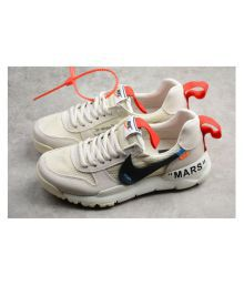 super popular 50597 9e0bc Nike Mars Yard 2.0 Off White Running Shoes White