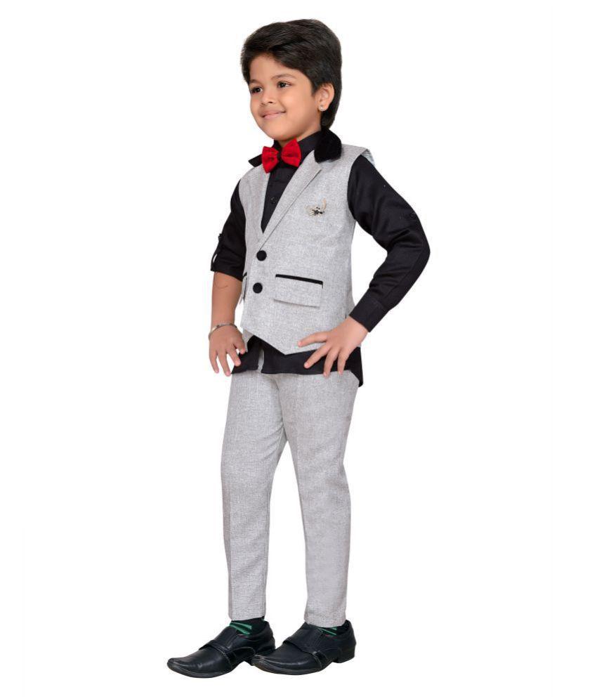 05ae12c6d8 AJ Dezines kids party wear waistcoat suit set for boys