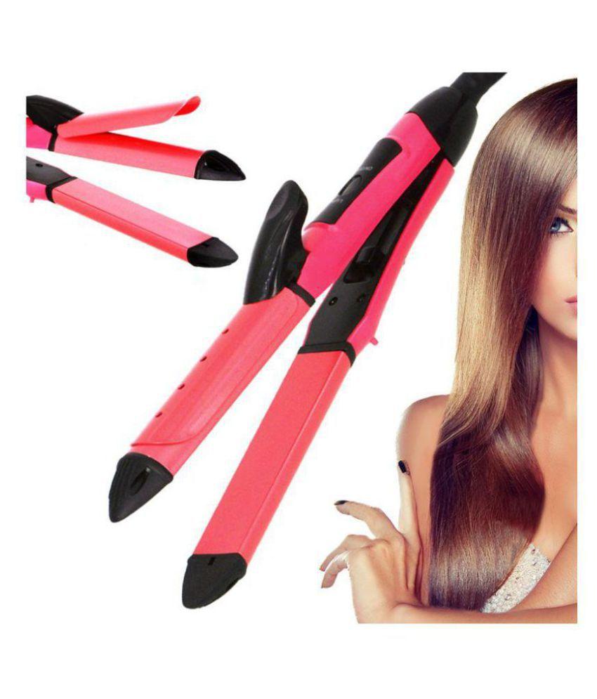 Jm Professional Hair Straighteners Travel Flat Iron 40W Hair Straightener ( Red )