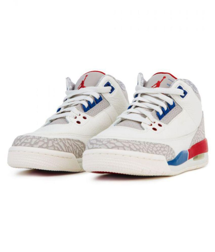 the best attitude eb39a 820b4 Nike Air Jordan 3 Retro White Multi Midankle Male White