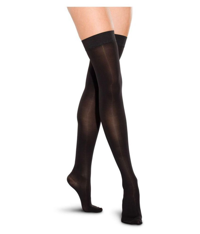 850f9869d Golden Girl Black Thigh High Stockings  Buy Online at Low Price in India -  Snapdeal