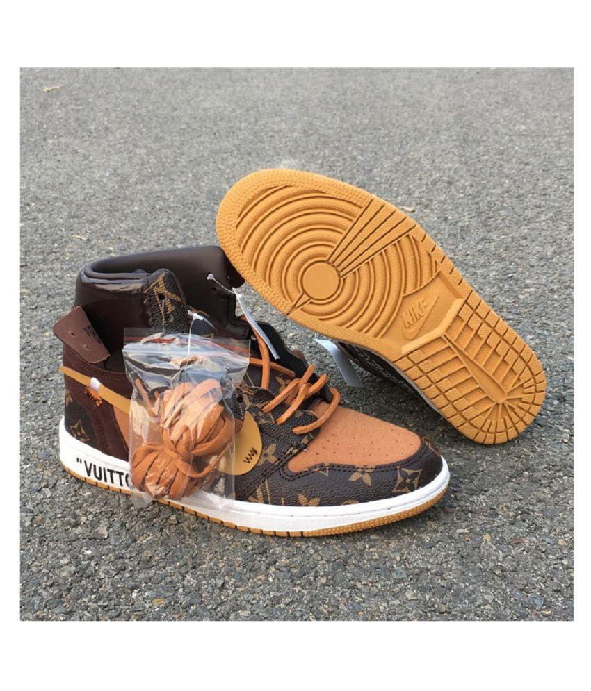 73e65d16dab Nike Off-White Louis Vuitton Brown Running Shoes