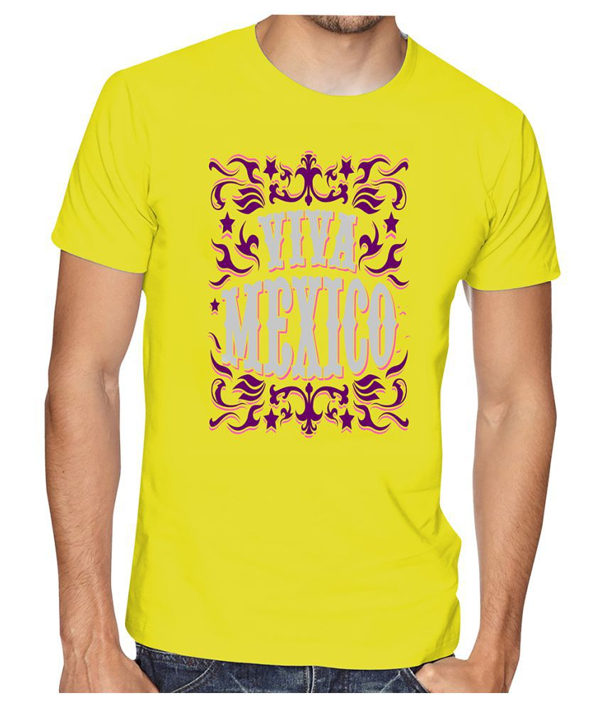Casotec Yellow Half Sleeve T-Shirt Pack of 1