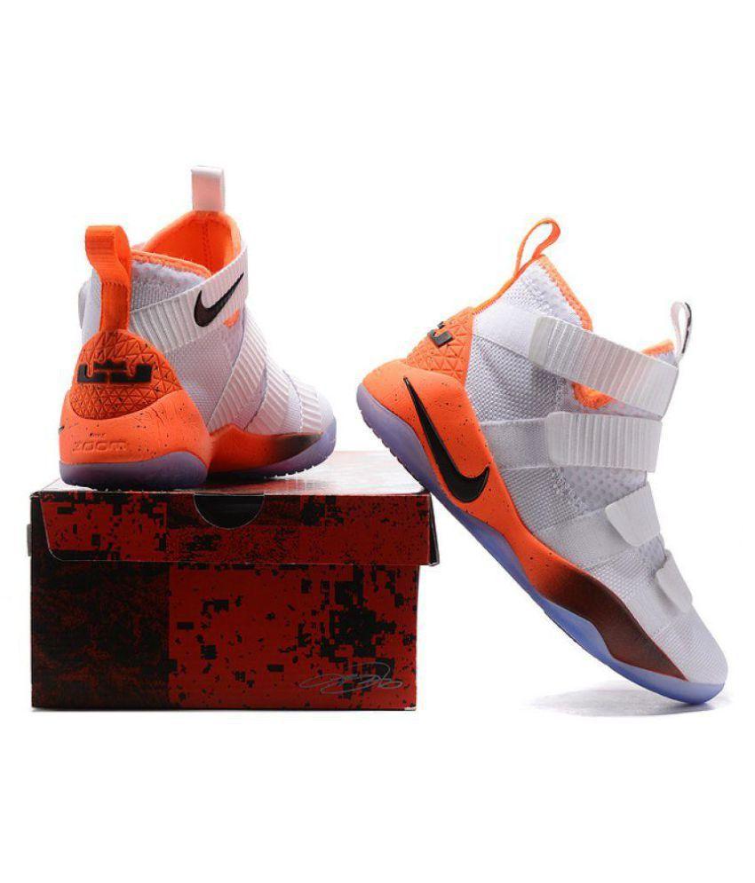 2cd7268914e Nike 2018 LeBron Soldier 11 LTD White Basketball Shoes - Buy Nike ...