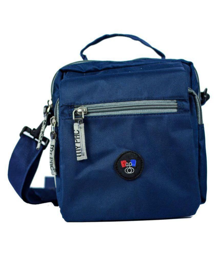 My Pac DB Vivaa unisex waterproof Sling bag Blue Polyester Casual Messenger Bag