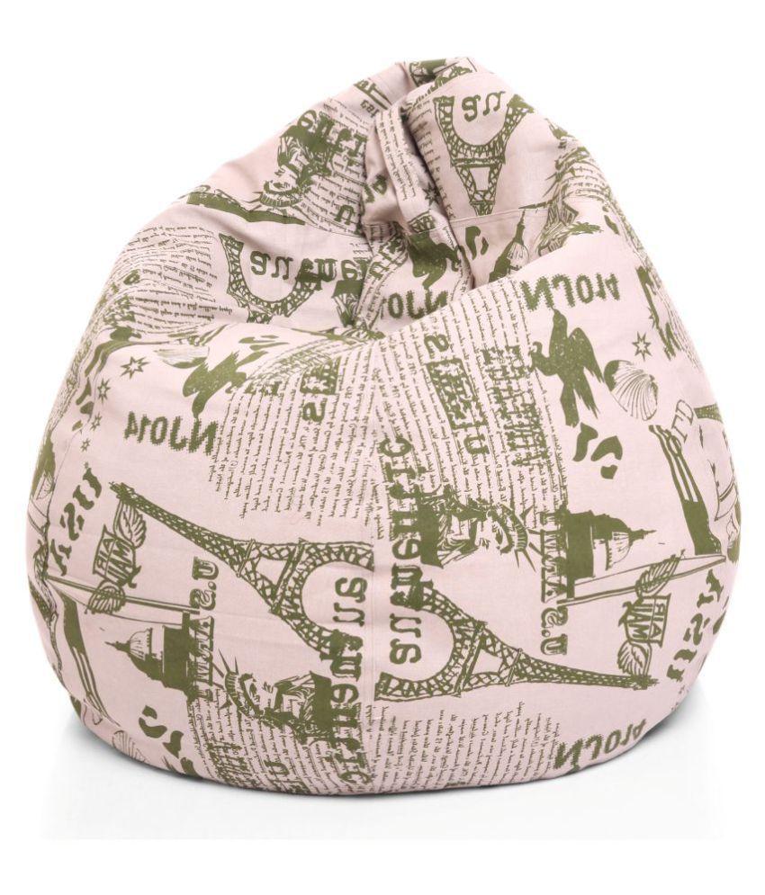 Terrific Style Homez Classic Cotton Canvas Abstract Printed Bean Bag Machost Co Dining Chair Design Ideas Machostcouk