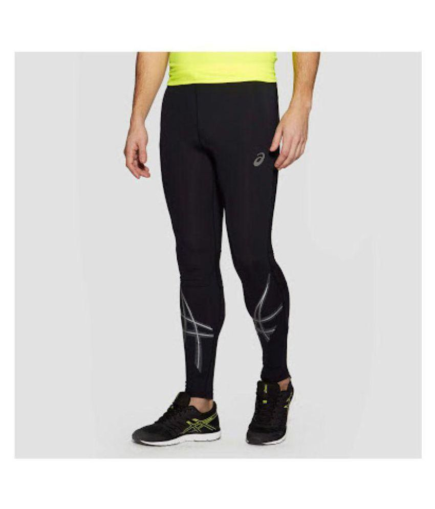 f61300ee41a23 Asics Black Polyester Lycra Trackpants - Buy Asics Black Polyester Lycra  Trackpants Online at Low Price in India - Snapdeal