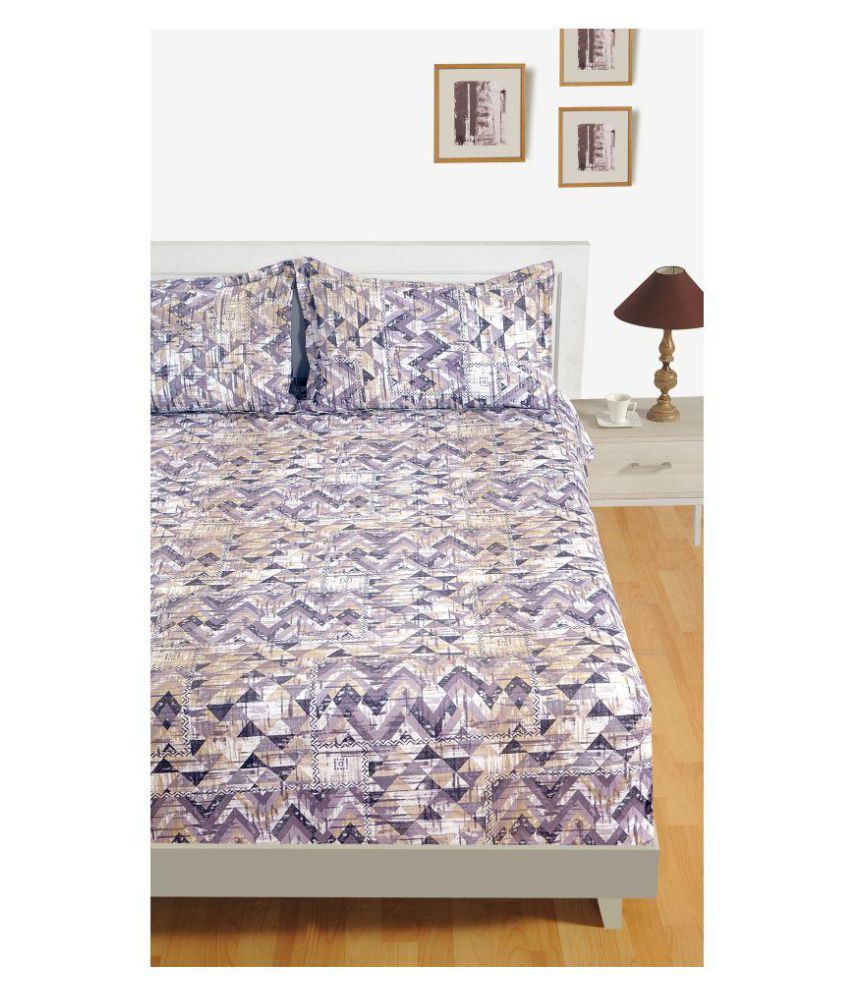 Swayam Cotton Single Bedsheet with 1 Pillow Cover