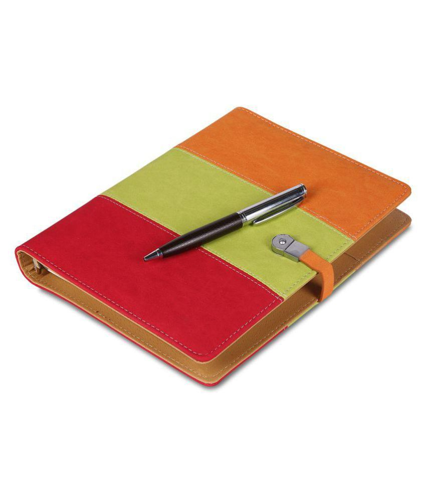 COI Vintage Designer Faux Leather Diary Professional Organizer Corporate Office Planner with Lock for Girls and Boys with Pen