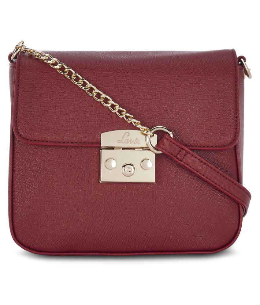 Lavie Red P.U. Sling Bag