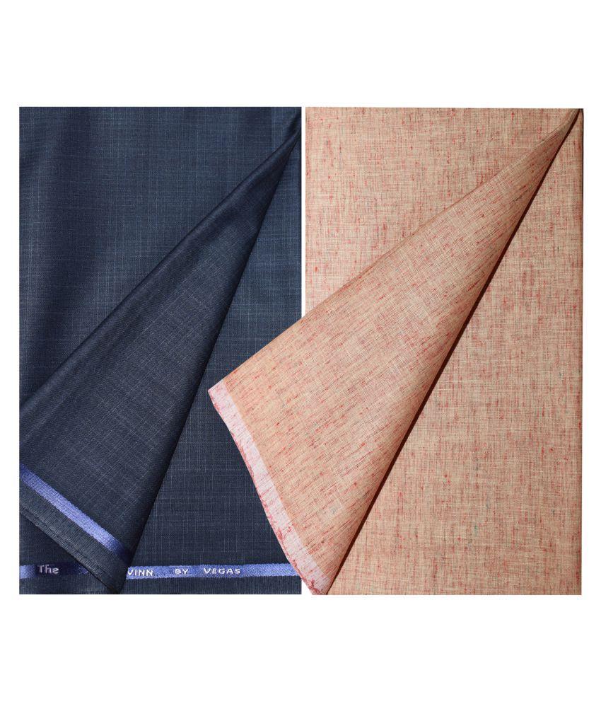 KUNDAN SULZ GWALIOR Multi 100 Percent Cotton Unstitched Shirts & Trousers Pack Of 1 Pant & 1 Shirt Piece