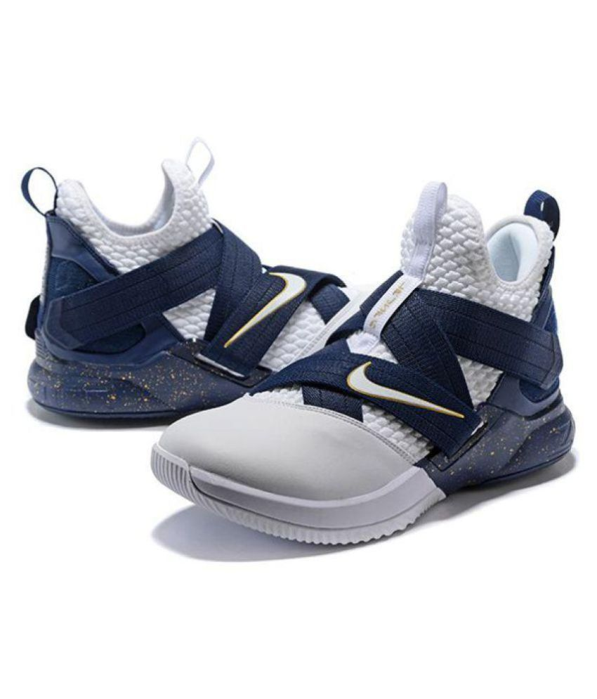 more photos c876b adc31 Nike Lebron Soldier 12 Navy White Low ankle Male Blue