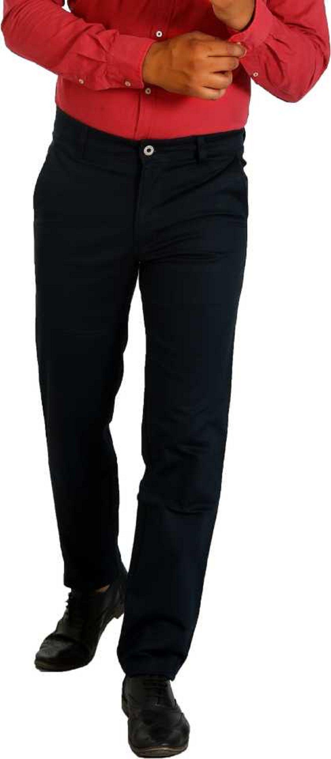 Awack Blue Slim -Fit Flat Trousers