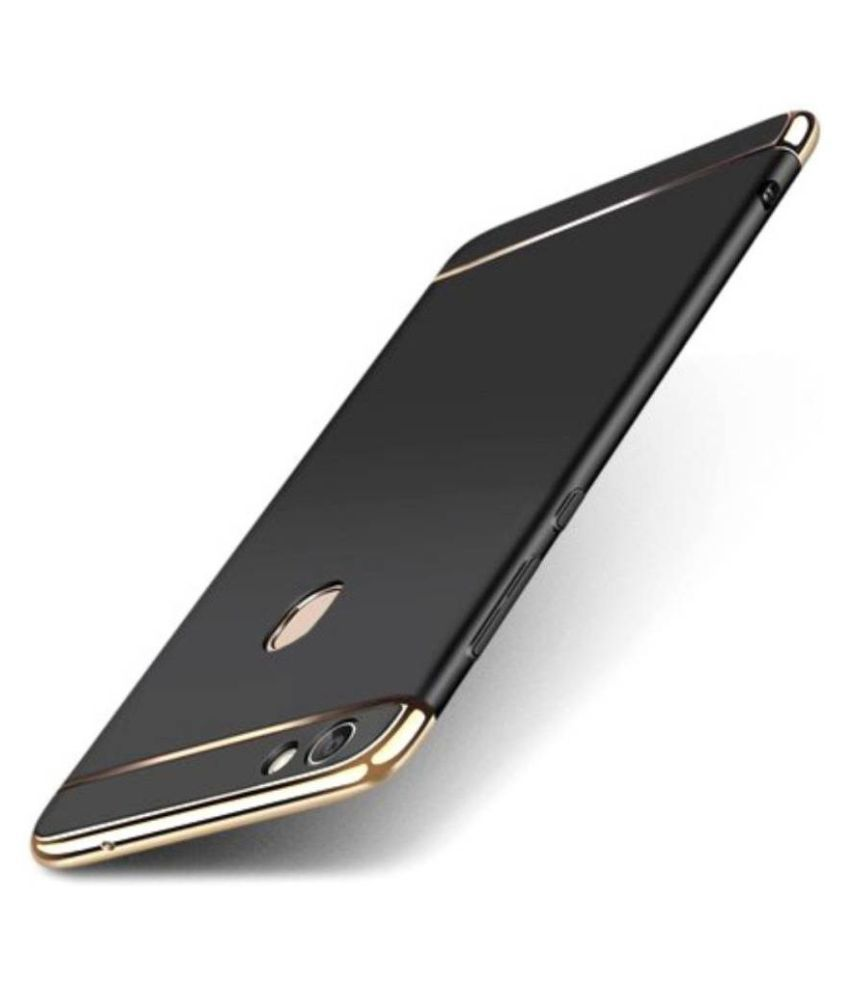 Samsung Galaxy J2 2018 Plain Cases Doyen Creations - Black 3 In 1 thin chromium glossy finish back cover
