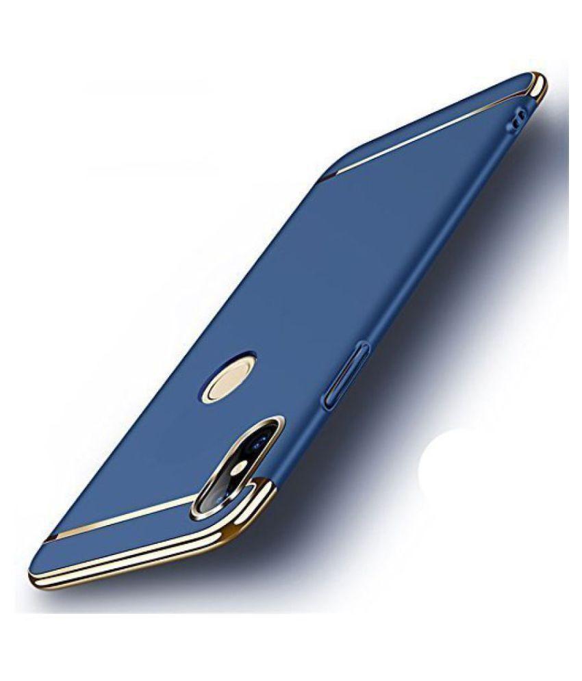 Samsung Galaxy J5 Plain Cases Doyen Creations - Blue 3 In 1 thin chromium glossy finish back cover