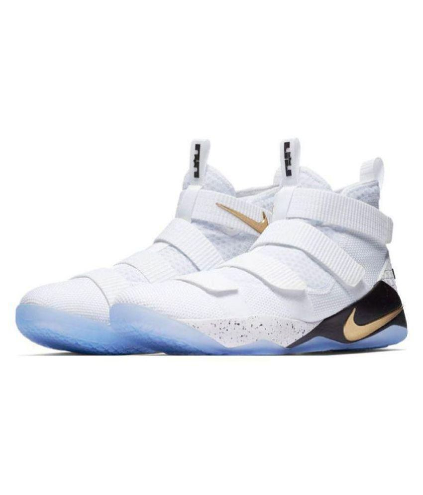 8198341886a8 Nike Lebron Soldier 11 Midankle Male White  Buy Online at Best Price on  Snapdeal
