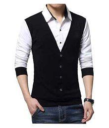 SEVEN SEA Black Full Sleeve T-Shirt Pack of 1