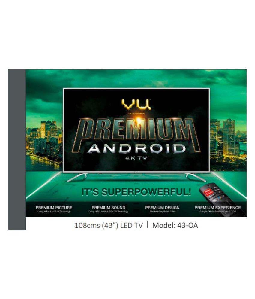 99700c4d205 Buy Vu 43 OA 108 cm ( 43 ) Ultra HD (4K) LED Television Online at Best Price  in India - Snapdeal