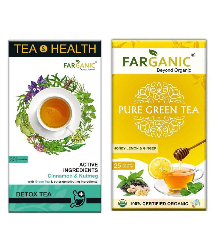FARGANIC Green Tea Bags 55 no.s Pack of 2