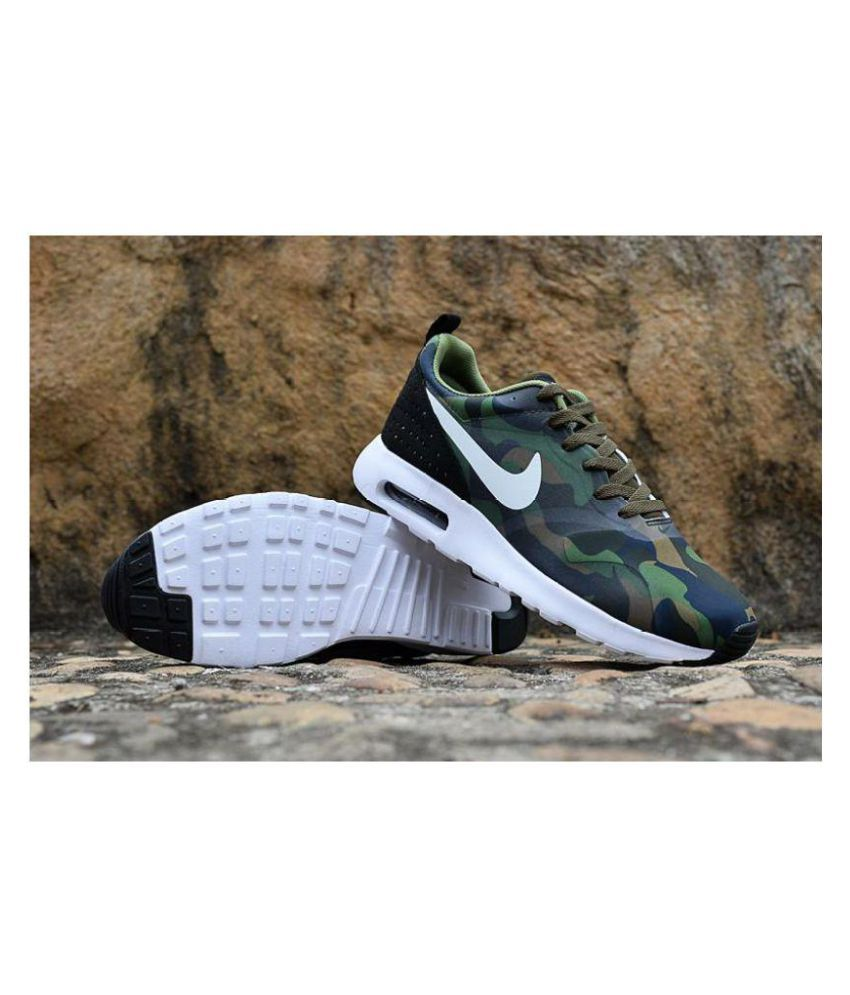 Nike Air Max Tavas Camouflage Army Running Shoes Green