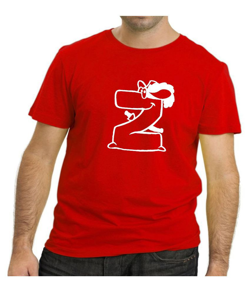 The Heyuze Haat Red Half Sleeve T-Shirt Pack of 1