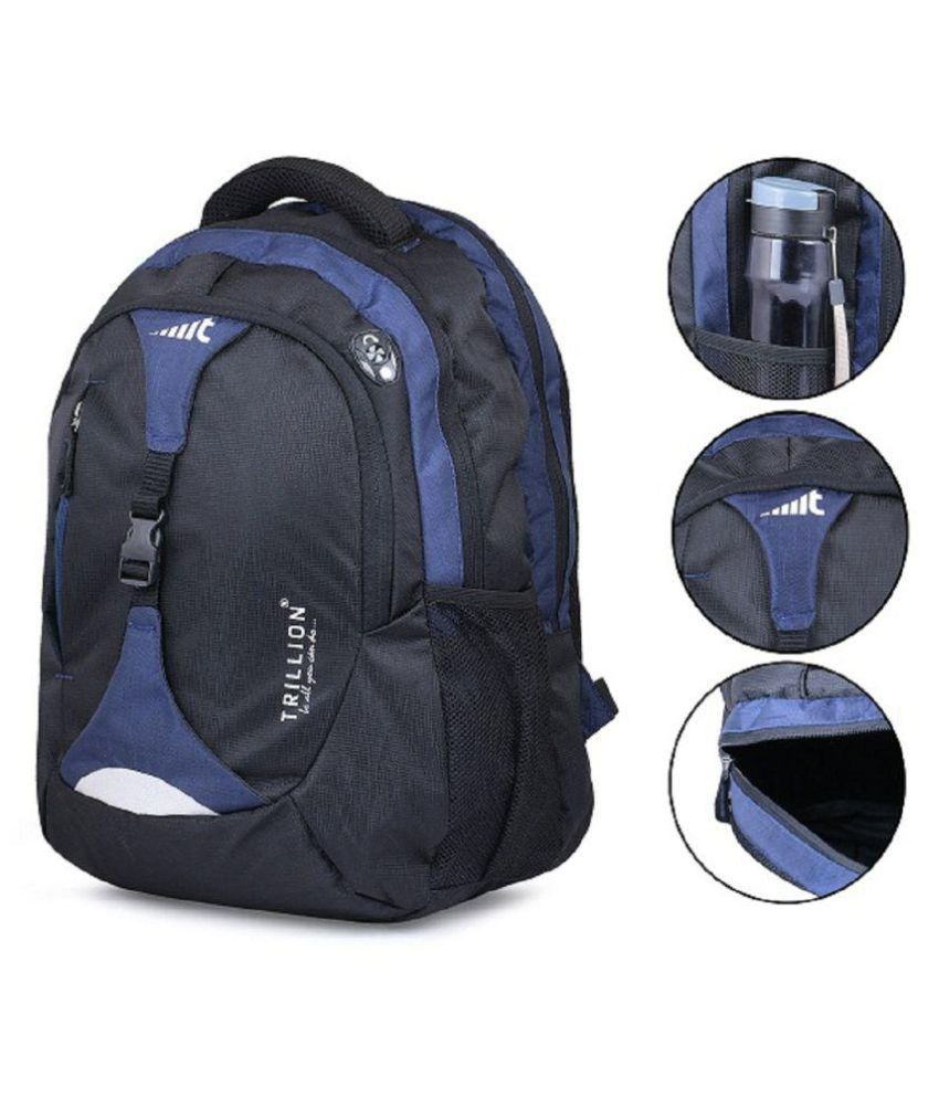 98933acd7b Trillion Casual Polyester Blue Black School College Bag for Unisex - Buy  Trillion Casual Polyester Blue Black School College Bag for Unisex Online  at Low ...