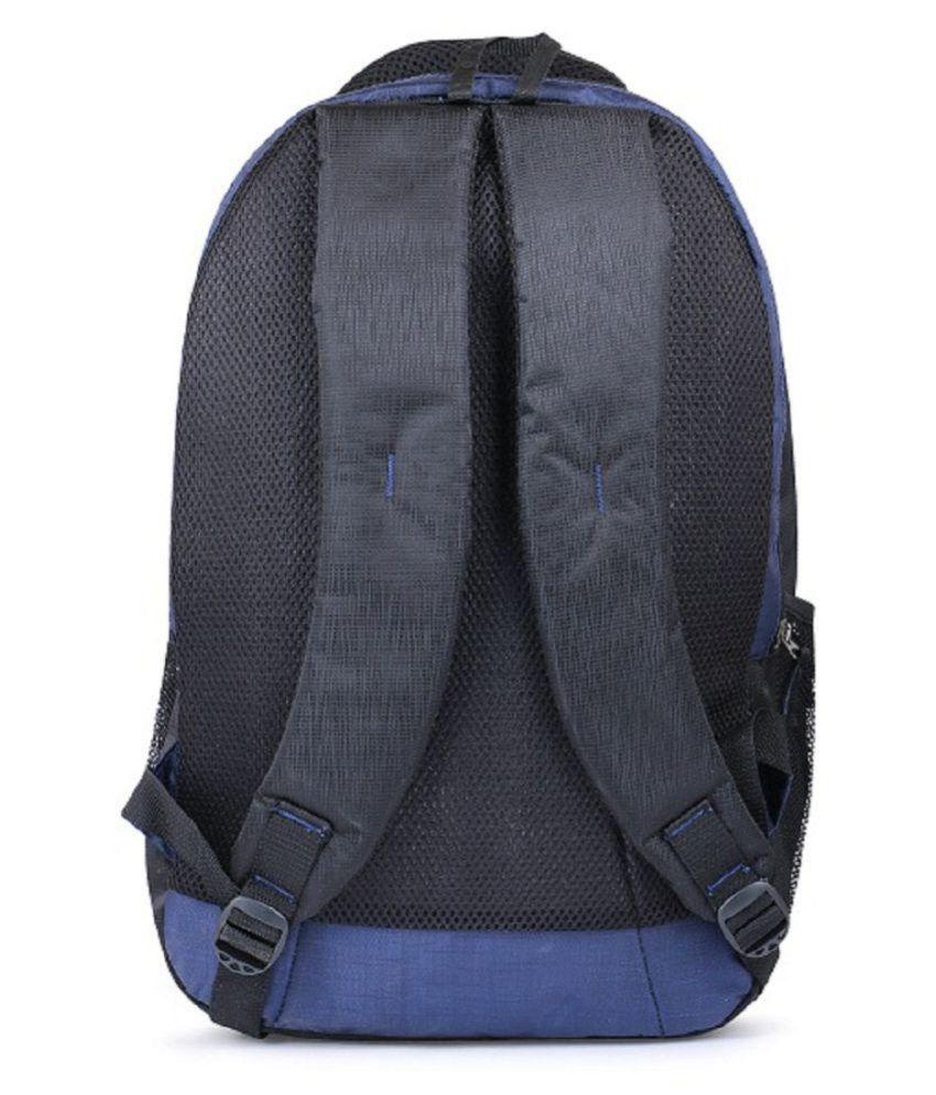 b5c2e9a435 ... Trillion Casual Polyester Blue Black School College Bag for Unisex ...