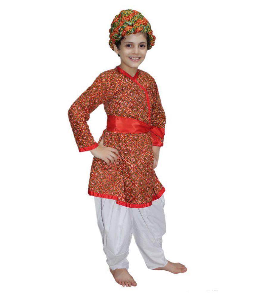 Kaku Fancy Dresses Indian State Rajasthani Folk Dance Costume For Kids Red 3 4 Years For Boys Buy Kaku Fancy Dresses Indian State Rajasthani Folk Dance Costume For Kids Red 3 4 Years