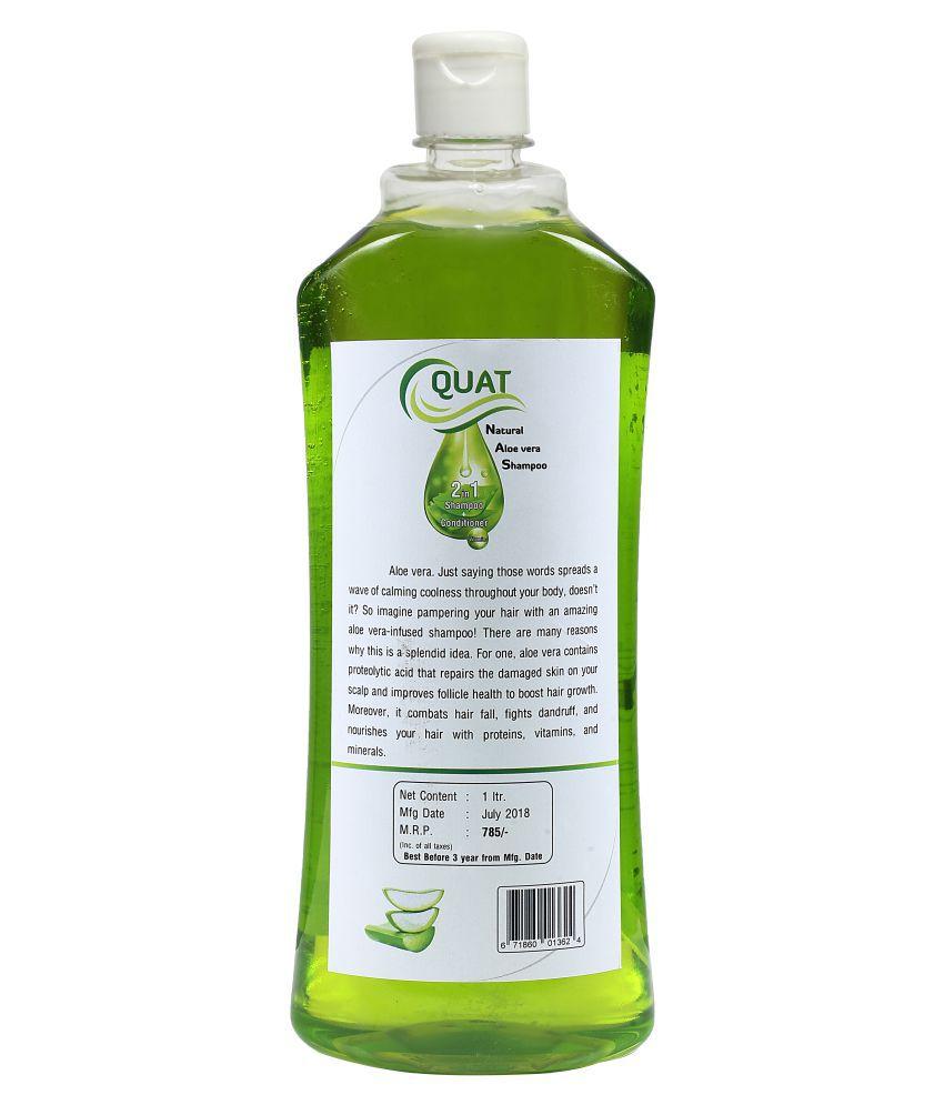 Quat Natural Aloe Vera Silk&Shine 2 In 1 Shampoo + Conditioner Shampoo 1 l