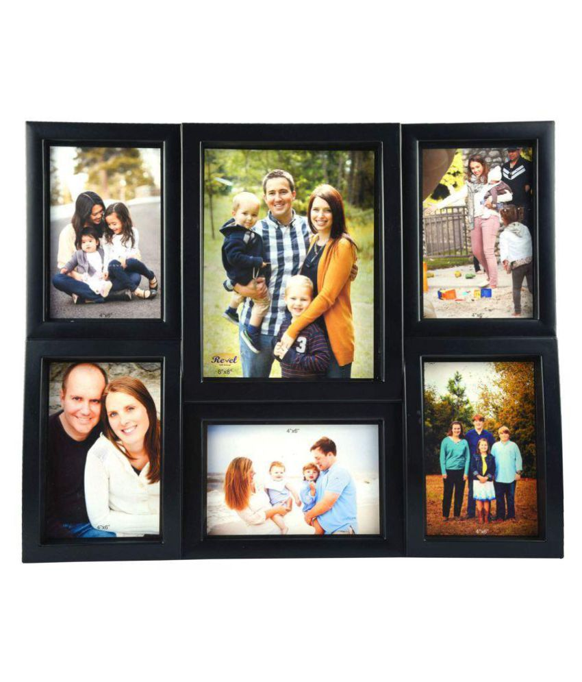 RSGIFTS4U Plastic Black Collage Photo Frame - Pack of 1