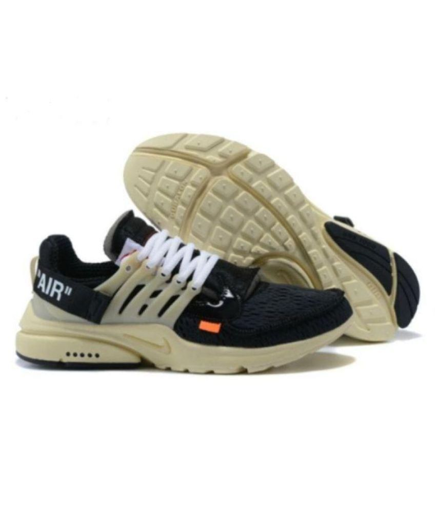 8516112c98b94 Nike 2019 Air Presto OFF-WHITE Blk- Gold Running Shoes - Buy Nike 2019 Air  Presto OFF-WHITE Blk- Gold Running Shoes Online at Best Prices in India on  ...