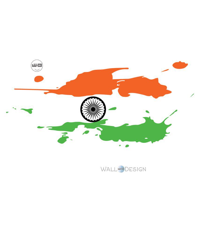WallDesign Patriotic In Car Sticker Multicolour