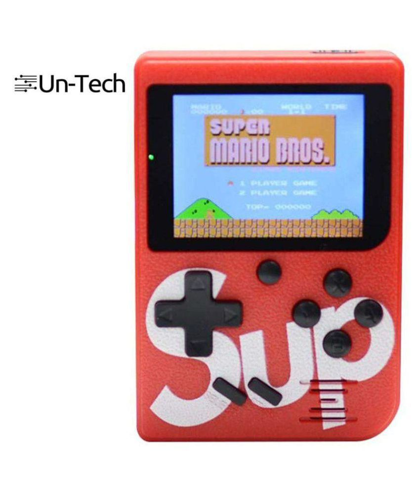 Un-Tech Android 8 GB Handheld Console ( 400 games Super Mario ,Contra,Tank Wars and more ) 3 Inch TFT Color Screen Retro Game