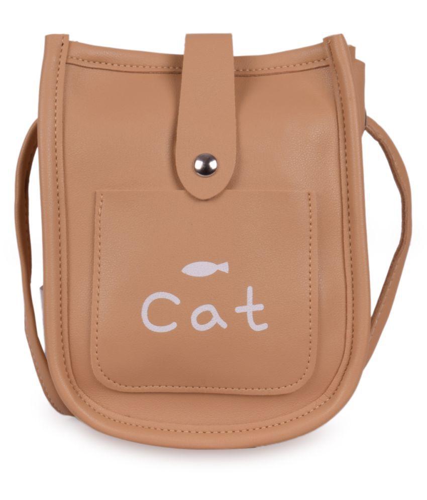 Bagkok Beige P.U. Sling Bag