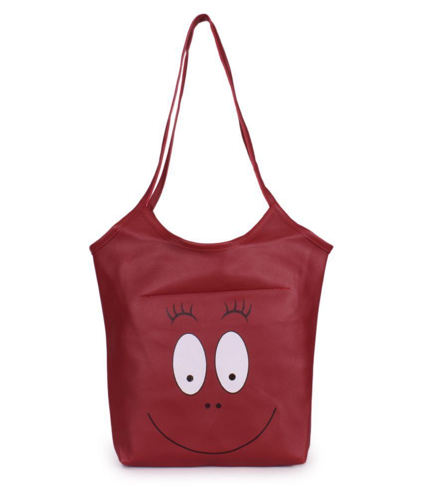 Bagkok Maroon P.U. Hobo Bag