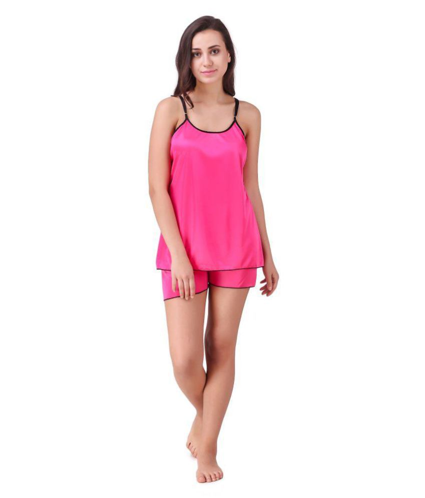 Lezaira Satin Night Shorts - Pink