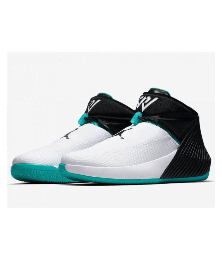 2e531dff538b8 Nike Nike Air Jordan Why Not 0.1 White Black Blue Low ankle Male White  Buy  Online at Best Price on Snapdeal