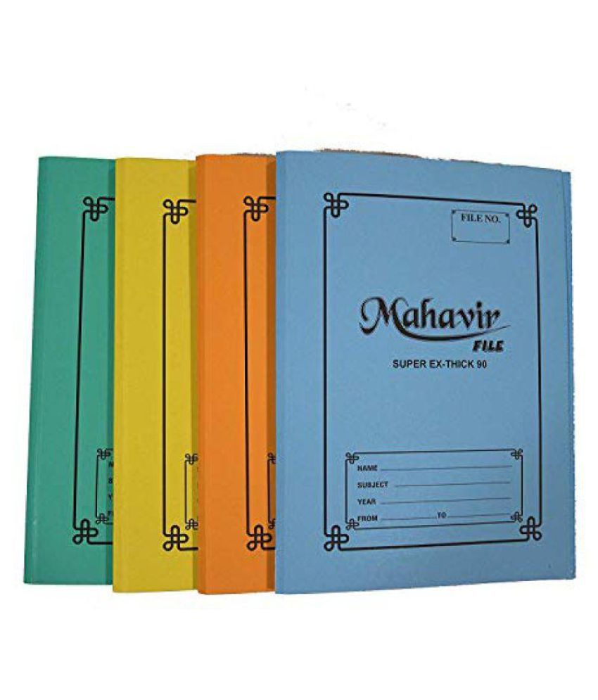 MAHAVIR Cobra Paper Files,Organizer Report,F/S Size Spring,Heavy Duty,Ring Binder Folder Spring File Cardboard with Spring 90 LBS Thick Card Board File Cobra Spring File Assorted Colour Pack of 12