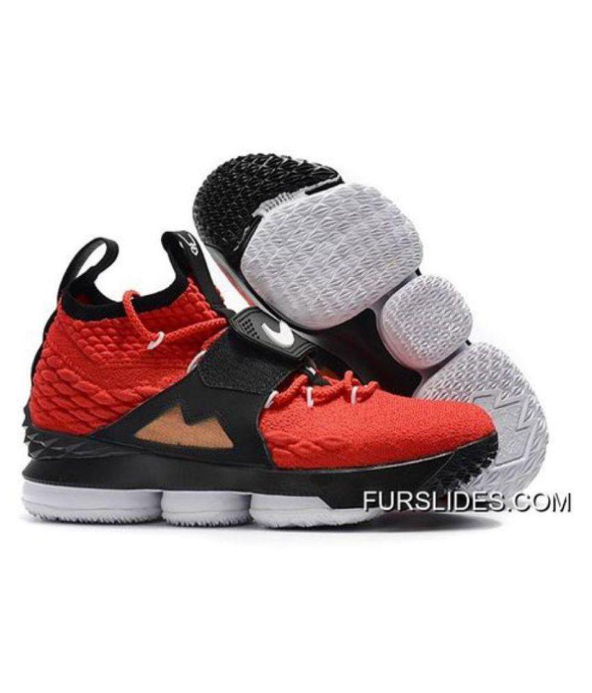 buy online fca48 22ad9 Nike LEBRON 15 DIAMOND TURF Red Basketball Shoes