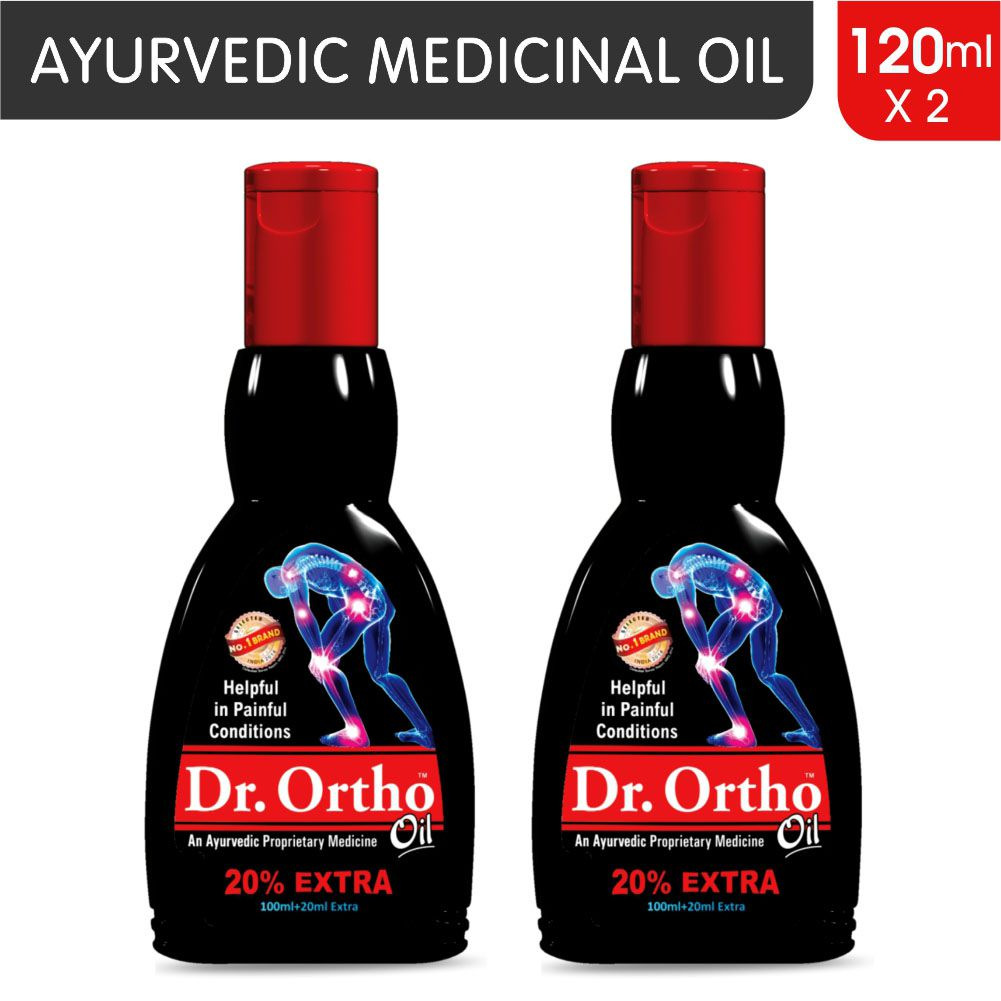 Dr Ortho Oil 120 ml, Pack of 2 (Ayurvedic Medicine, Helpful in Joint Pain,  Back Pain, Knee Pain, Leg Pain, Shoulder Pain, Wrist Pain, Neck Pain, Ankle