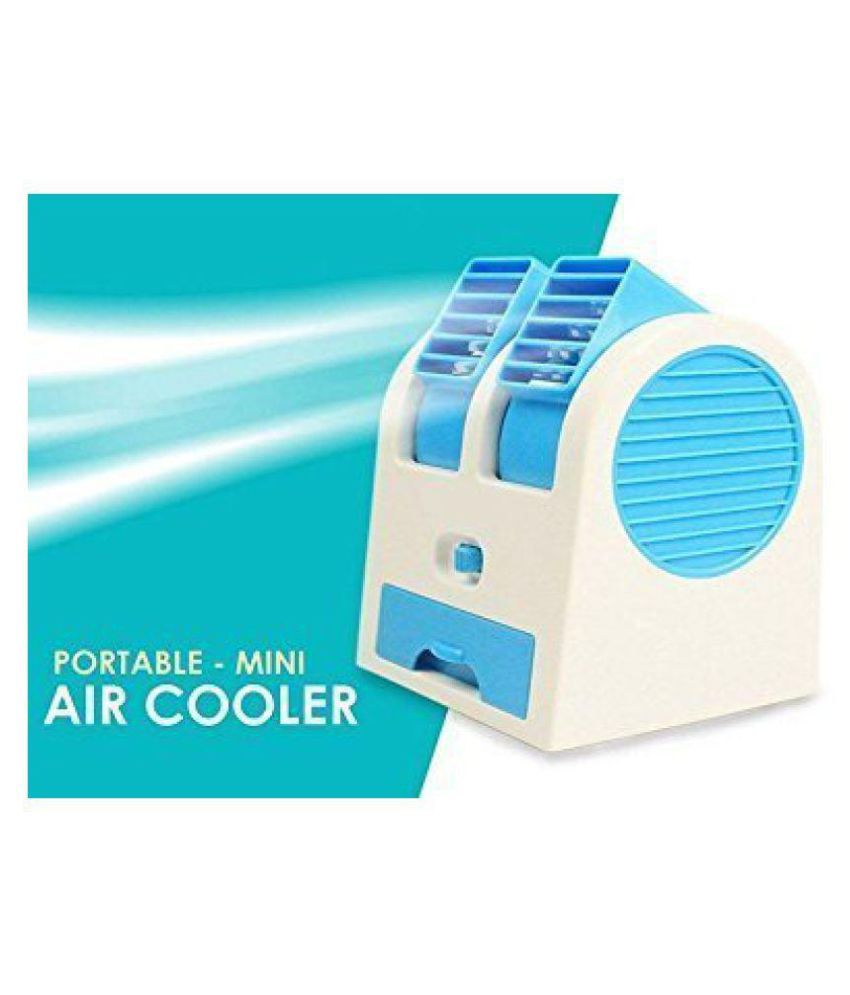 RSN Mini Fan  amp; Portable Dual Bladeless Small Air Conditioner Water Air Cooler Powered by USB  amp; Battery by RASON