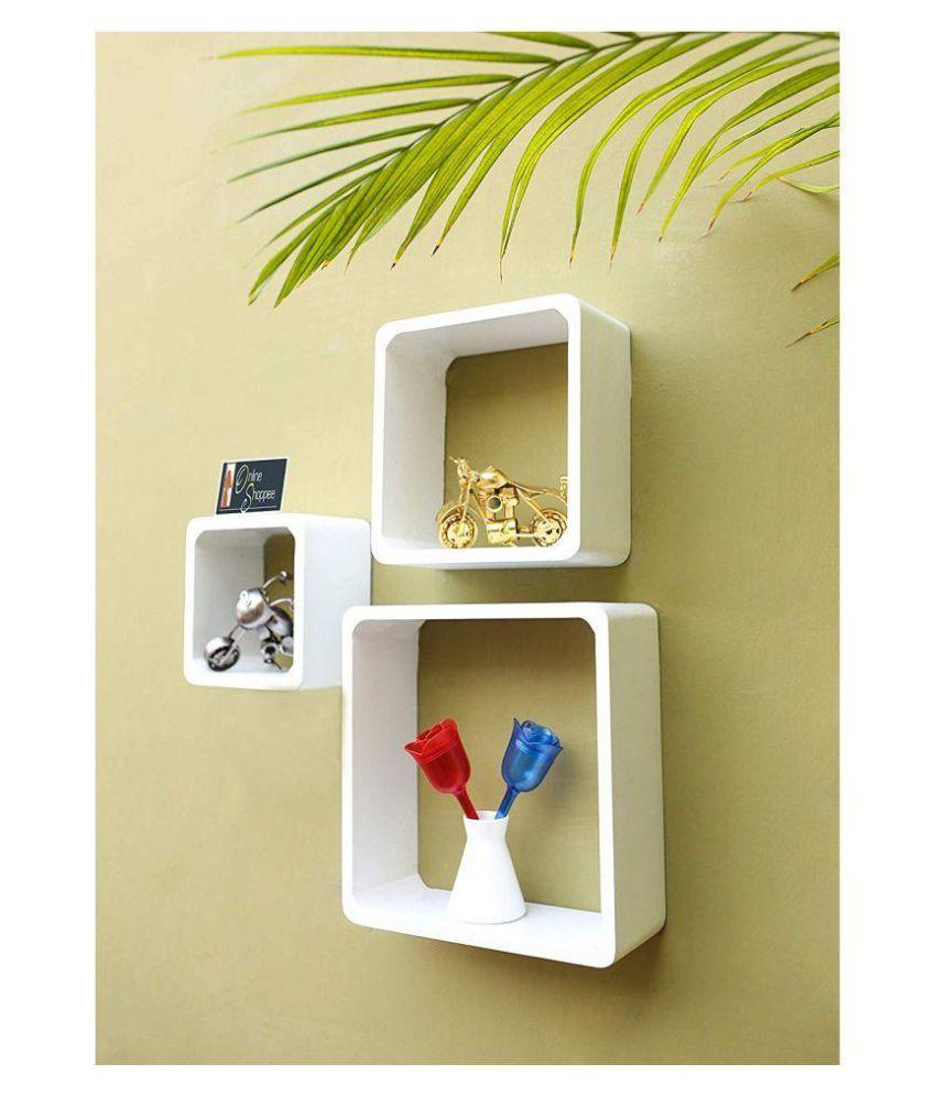 Onlineshoppee Fancy handicraft design Wall Decor MDF Wall Shelf - White