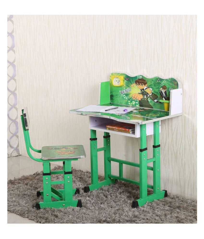 Ben10 Kids Study Table & Chair Set in Green Color by Parin - Buy Ben10 Kids  Study Table & Chair Set in Green Color by Parin Online at Best Prices in